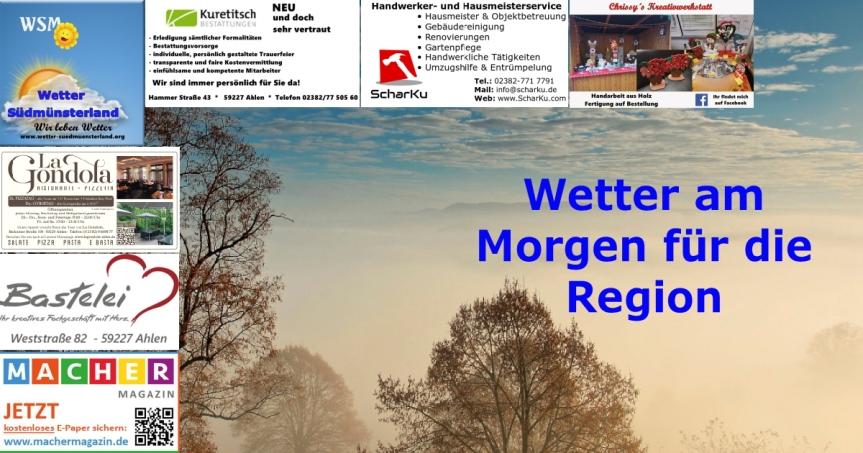 Wettervorhersage Montag, 28.01.2019