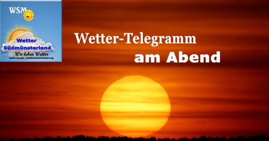 Wetter-Telegramm am Abend
