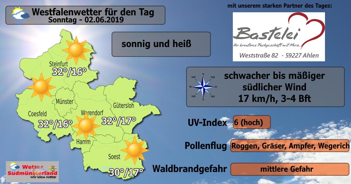 Dein Wetter Für Sonntag 02062019 Wetter Südmünsterland