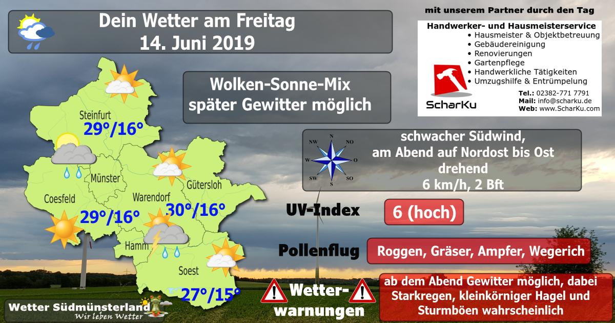 Wettervorhersage Freitag