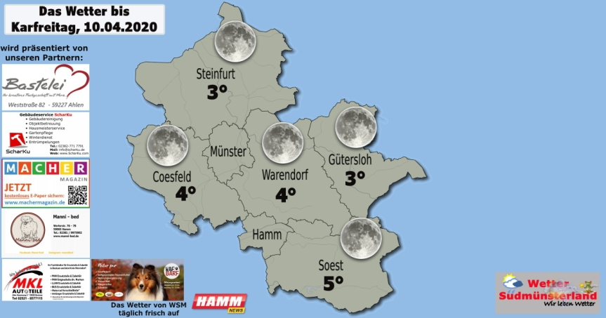 Das Wetter bis Karfreitag,10.04.2020
